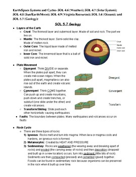 5th Grade Science SOL Test Study Guide
