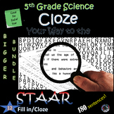 5th Grade Science STAAR~ End of YEAR Cloze/Fill in #1-12~Big BUNDLE~NO PREP