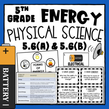 5th Grade Science  ~ Energy Activities