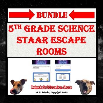 5th Grade Science STAAR Review Escape Room Bundle