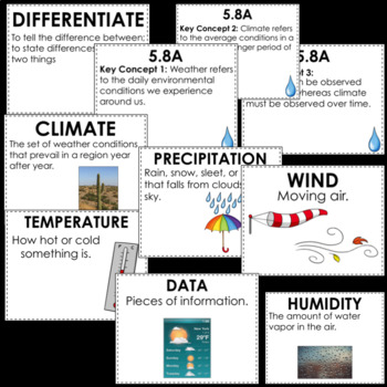 5th Grade Science: Water Cycle/Earth Science - Game and Activity