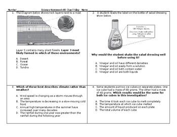 5th Grade Science STAAR Packet #5