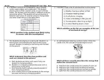 5th Grade Science STAAR Packet #7