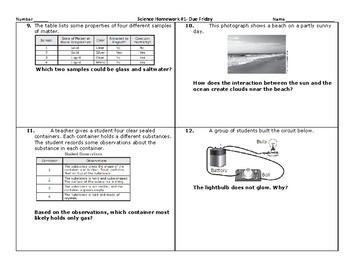 5th Grade Science STAAR Packet BUNDLE