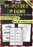 5th Grade Science STAAR-Properties of Light FREEBIE (refraction, reflection)*PDF