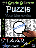 5th Grade Science STAAR Review~CW Puzzle BUNDLE~Over 125 T
