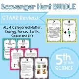 5th Grade Science STAAR Scavenger Hunt Bundle