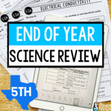5th Grade Science STAAR Review | Google Classroom and Printable