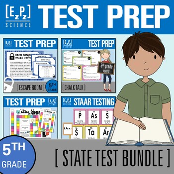 5th Grade Science STAAR Test Review- State Test Prep Bundle