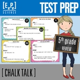 5th Grade Science STAAR Test Review- Chalk Talk Task Cards