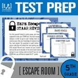 5th Grade Science STAAR Test Review Escape Room- Science D