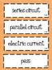 5th Grade Science STAAR Vocabulary Cards