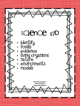 5th Grade Science STAAR Vocabulary Lists