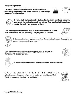5th Grade Science Safety Procedures