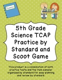 5th Grade Science Scoot or Game Cards for All Tennessee Skills TCAP
