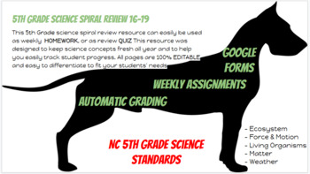 5th Grade Science Spiral Review Set 4