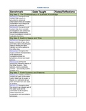5th Grade Science Standards Checklist NGSSS