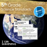 5th Grade Science I Can Statements (Indiana)