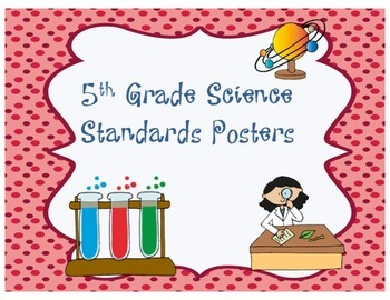 Arizona Science Standards Posters - 5th Grade
