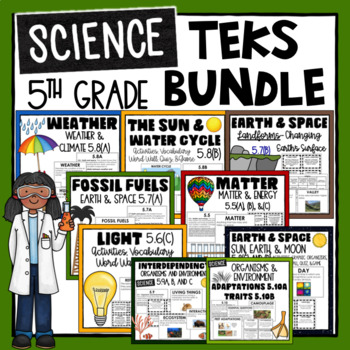 5th Grade Science TEKS Bundle