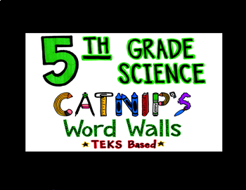 5th Grade Science TEKS Flash Cards