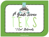 "5th Grade Science Texas TEKS ""I Can"" Statement Posters STR"