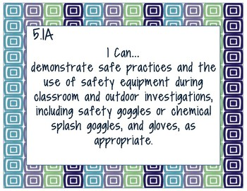 5th Grade Science TEKS- I Can Statements
