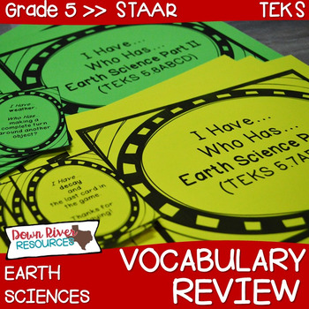 5th Grade Science TEKS STAAR Earth Science Vocabulary Review Games