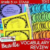 5th Grade Science TEKS STAAR Vocabulary Review Games BUNDLE