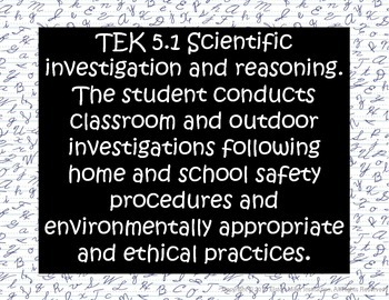 5th Grade Science TEKS Signs