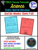 5th Grade Science TEKS Texas Tornado Daily Spiral Review Part 2