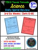 5th Grade Science TEKS Texas Tornado Daily Spiral Review Part 3