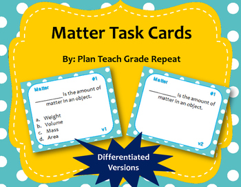 5th Grade Science Task Card Bundle (140 task cards)~2 Differentiated Versions