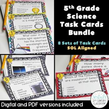 5th Grade Science Task Card Bundle