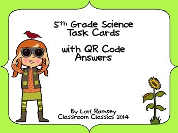 5th Grade Science Task Cards with QR Code answers