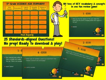 5th Grade Science Test Prep Bundle (aligned to AIR test)