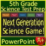 5th Grade Science Distance Learning Test Prep Game - Review ALL Units!