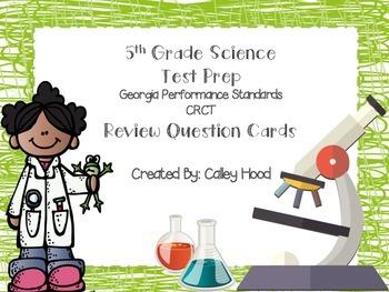5th Grade Science Test Prep Review Question Cards Common Core GPS, GA Milestones
