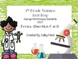 5th Grade Science Test Prep Review Question Cards Common Core GPS, GA Milestones