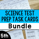 5th Grade Science Test Prep Task Cards   Printable and Digital