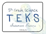 """5th Grade Science TEKS Posters STREAMLINED """"I Can"""" Statement {Cool Cactus}"""
