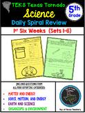 5th Grade Science TEKS Texas Tornado Daily Spiral Review Part 1