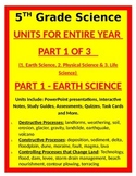 5th Grade Science UNITS FOR ENTIRE YEAR- PART 1