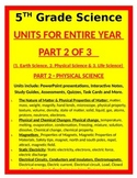 5th Grade Science UNITS FOR ENTIRE YEAR- PART 2