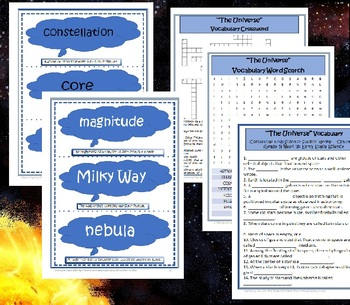 5th Grade Science~Universe~Vocabulary, Puzzles, Quiz, Flash Cards~Studies Weekly