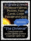 5th Grade Science~Universe~Vocabulary, Puzzles, Quiz, Flas