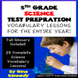 5th Grade Science Vocabulary Lessons, Activities, Writing
