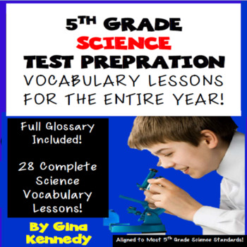 5th Grade Science Weekly Vocabulary Activities, Writing Ex