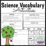5th Grade Science Vocabulary Activities