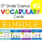 5th Grade Science Vocabulary -Growing- BUNDLE